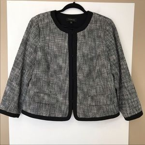 Talbots Tweed Jacket In Black And White Size 14